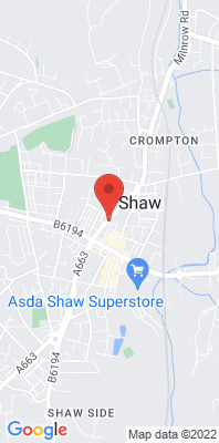 Map showing the location of the Shaw Crompton Way monitoring site