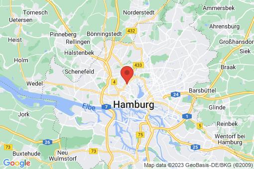 Karte Hamburg Hoheluft-West