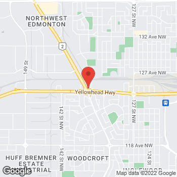 Map of Arby's at 12523 St Albert Trail, Edmonton, AB T5L 4H3