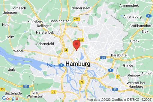 Karte Hamburg Hoheluft-Ost