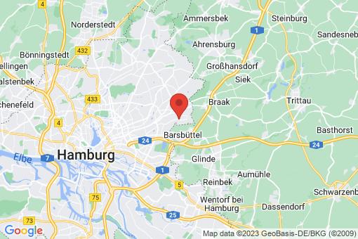 Karte Hamburg-Wandsbek Rahlstedt Tonndorf