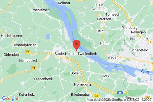 Karte Hollern-Twielenfleth