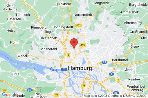 Karte Hamburg-Nord