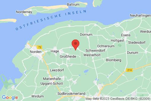 Karte Großheide Menstede-Coldinne, Menstede