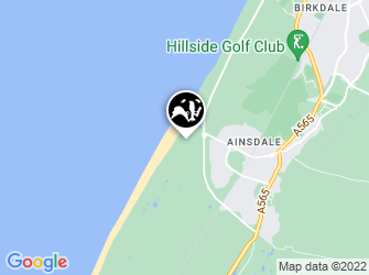 A static map of Ainsdale Beach