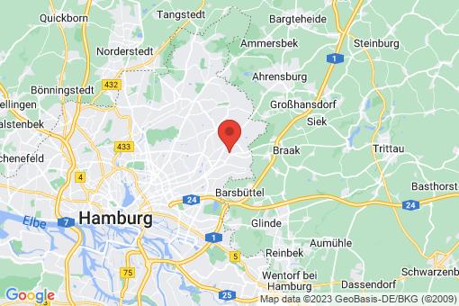 Karte Hamburg Rahlstedt