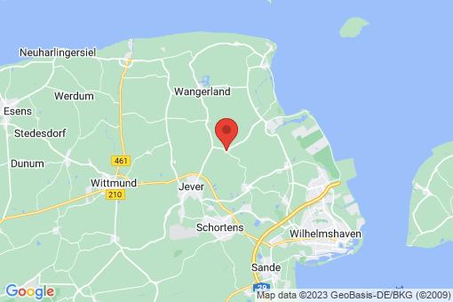 Karte Wangerland Waddewarden