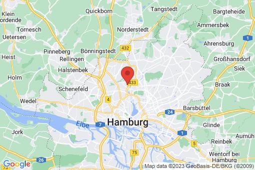 Karte Hamburg Groß Borstel
