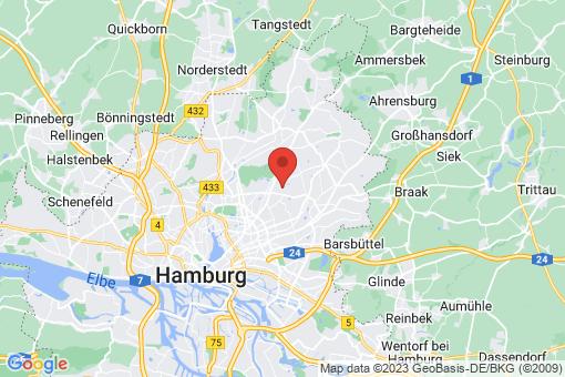 Karte Hamburg Bramfeld