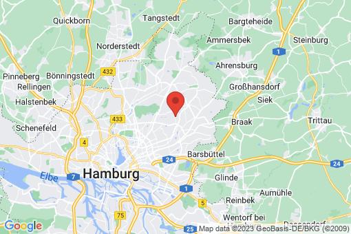 Karte Hamburg-Wandsbek  Farmsen-Berne
