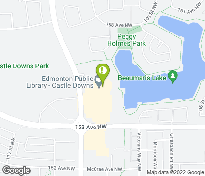 Map of 15379 Castle Downs Road NW in Edmonton