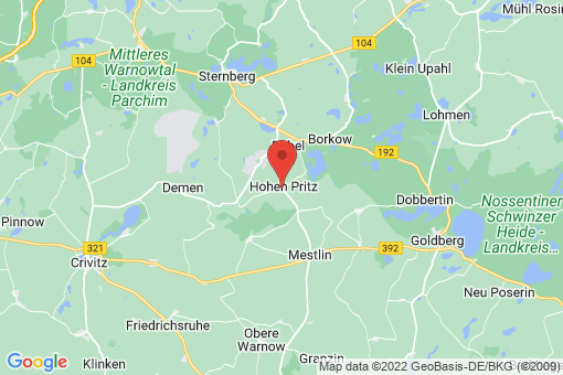 Karte Hohen Pritz