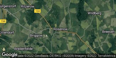 Google Map of Rosenow bei Altentreptow