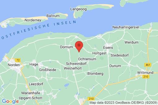 Karte Dornum Roggenstede