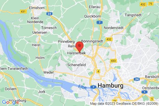 Karte Halstenbek