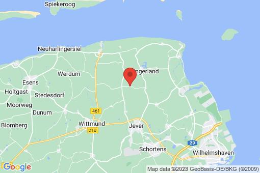 Karte Wangerland Tettens