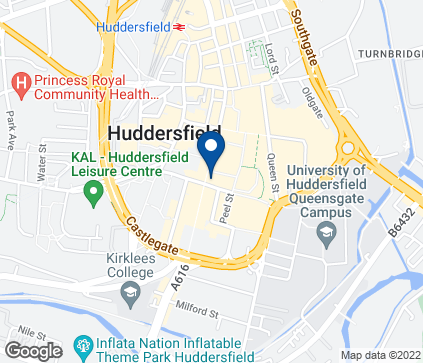 Map of 69 New Street in Huddersfield