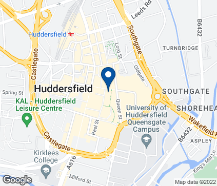 Map of 22-24 King Street in Huddersfield