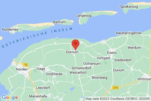 Karte Dornum Westeraccum