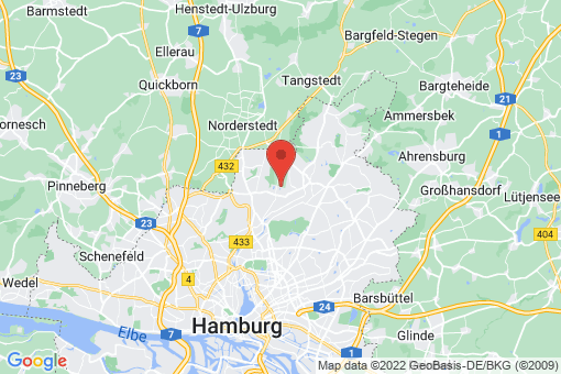 Karte Hamburg Hummelsbüttel