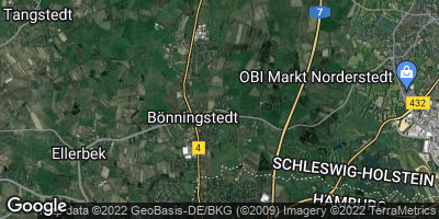 Google Map of Bönningstedt
