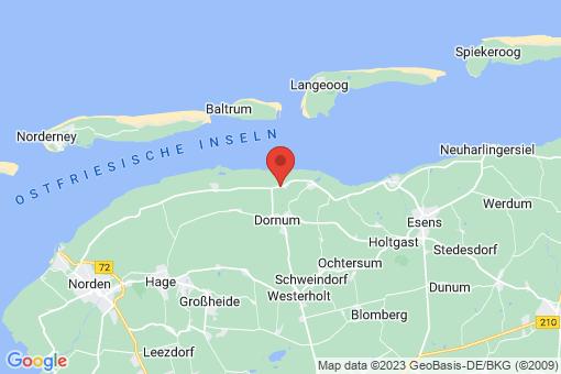 Karte Dornum Dornumergrode