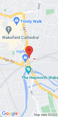 Map showing the location of the Wakefield City - Park Street monitoring site