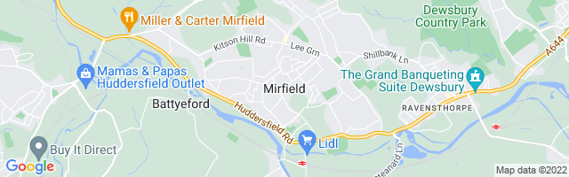Map Of Mirfield