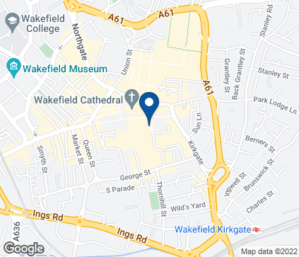 Map of 26-28 Kirkgate in Wakefield