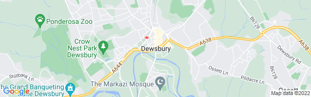 Map Of Dewsbury