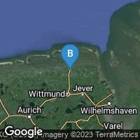 Lagekarte von Wittmund-Carolinensiel