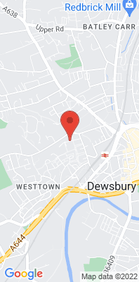 Map showing the location of the Dewsbury Ashworth Grove monitoring site