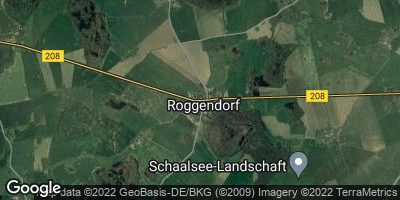 Google Map of Roggendorf bei Gadebusch