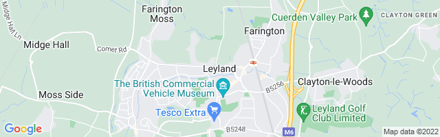 Map Of Leyland