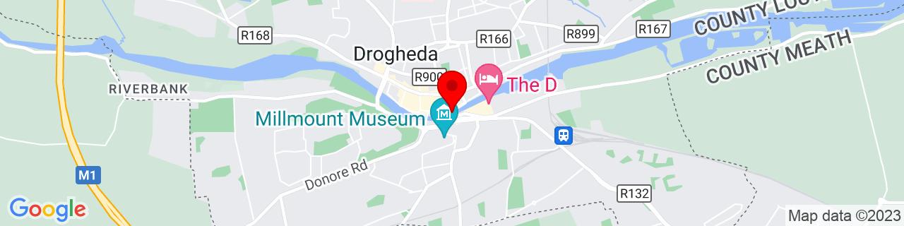 Google Map of 53.71356666666667, -6.349225