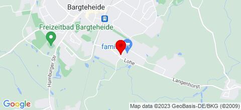 Google Map für Gewerbehaus Bargteheide