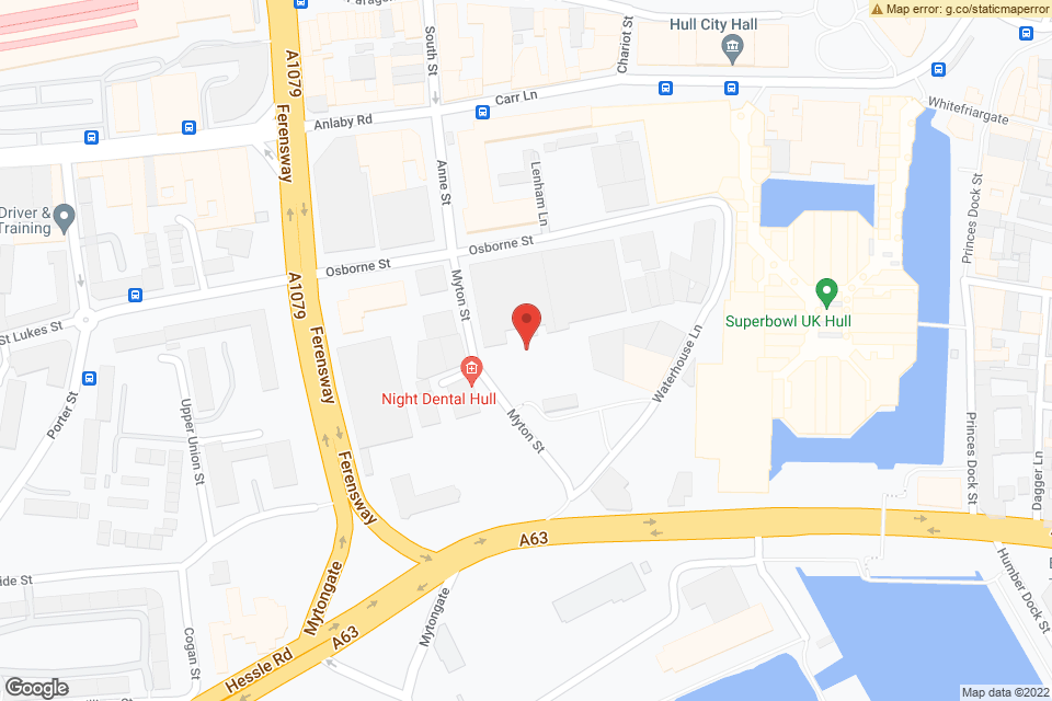 Myton St, Hull HU1 2AG, Hull, HU1 2AG map
