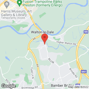 Map of BB Walton-le-Dale Ford Motor Company at Unit 1 Ford Motor Company, Walton-le-Dale, Lancashire PR5 4JN