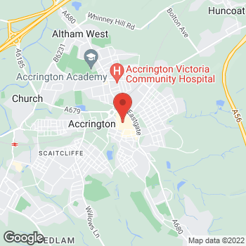 Map of wilko Accrington at Unit 3 Market Square, Accrington,  BB5 1EJ