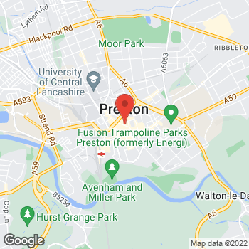 Map of STA Travel at 171 Friargate, Preston, Preston, Lancashire PR1 2EJ