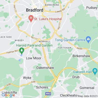 Bierley Hall, Bradford Location