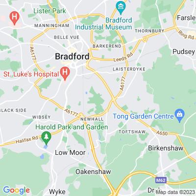 Bowling Park, Bradford Location