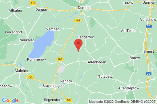 Karte Hohenbollentin
