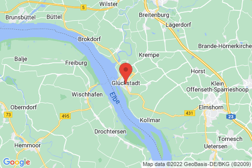 Karte Glückstadt