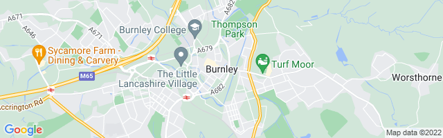 Map Of Burnley