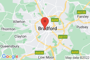University of Bradford Health Studies Collection, J.B. Priestley Library on the map