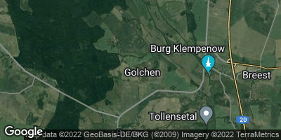 Google Map of Golchen bei Altentreptow
