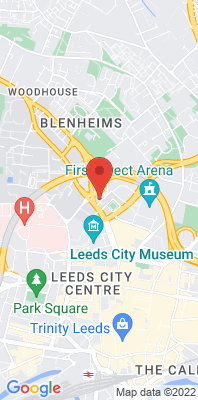 Map showing the location of the Leeds Centre monitoring site