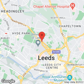 Map of STA Travel at 182 Woodhouse Lane, Leeds, West Yorkshire LS2 9HB