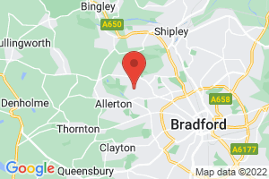 Bradford District Care Trust Library & Health Promotion Resources on the map